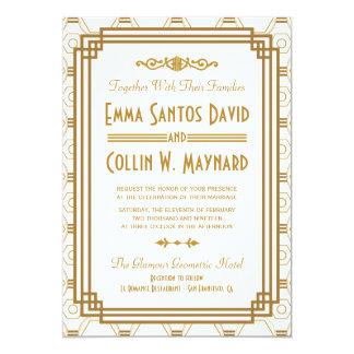 Art déco som gifta sig inbjudningar