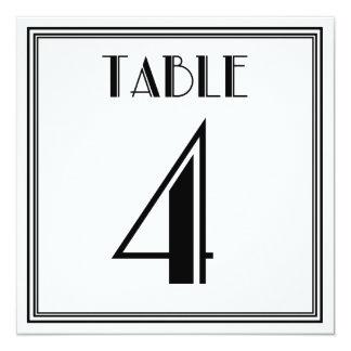Art décobordsnummer 4 fyrkantigt 13,3 cm inbjudningskort