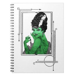 Art décobrudanteckningsbok anteckningsbok