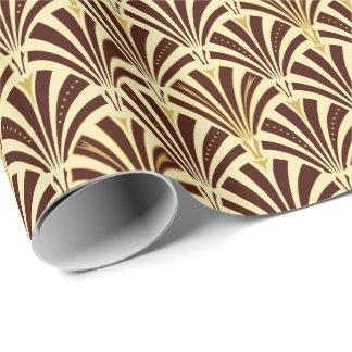 Art décofläktmönster - choklad på kräm presentpapper