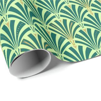 Art décofläktmönster - sörja och mint grönt presentpapper