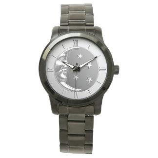 Art décomåne och stjärnor - grå färg/grått och armbandsur