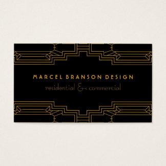 Art décoramguld på beställnings- färgsvart visitkort