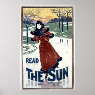 Art nouveau 1895 solannonsen av Louis John Rhead Poster