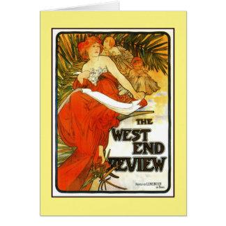 Art nouveau Alfons Mucha, UK-tidskriftannons Hälsningskort