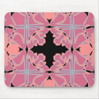 Art nouveau belägger med tegel mönster musmattor