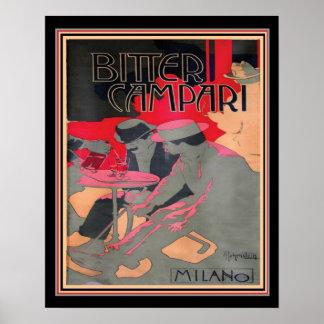 """Art nouveau """"bittra Campari av Adolfo Hohenstein, Poster"""