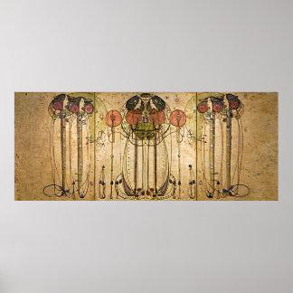Art nouveau Charles Mackintosh Wassailen Poster
