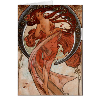 Art nouveau danshälsningkortet hälsningskort