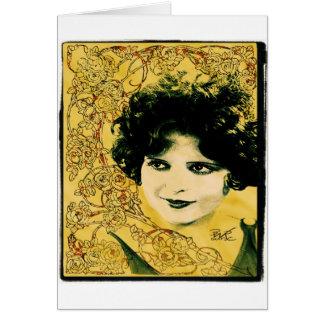 """Art nouveau """"för Clara pilbåge"""" La Hälsningskort"""