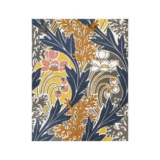 Art nouveau för för vintageSwirly blad och blommor Canvastryck
