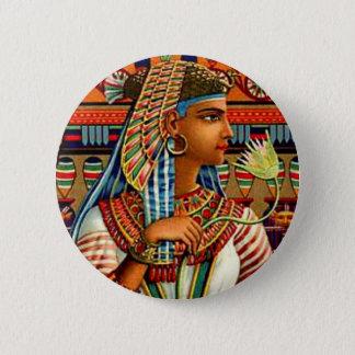 Art nouveau för vintageCleopatra egyptisk Standard Knapp Rund 5.7 Cm