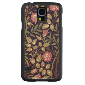 Art nouveau för William Morris söt Briarblommigt Carved Lönn Galaxy S5 Skal