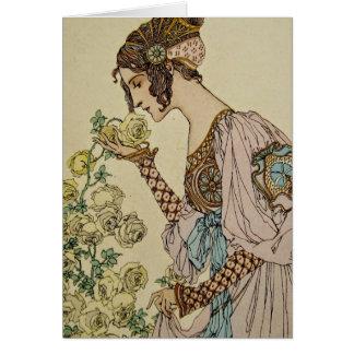 Art nouveau hälsningskort