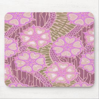 Art nouveau hjärta- och blomma 2 mus mattor