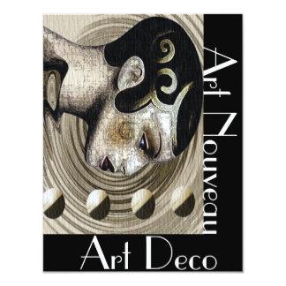 Art nouveau 10,8 x 14 cm inbjudningskort