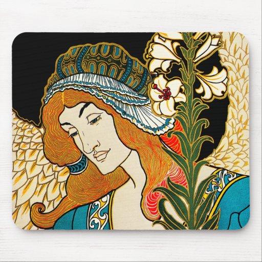 Art nouveau - L.Rhead - Prangs påsk Mus Matta