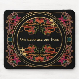 Art nouveau och art déco dekorerar våra liv musmattor