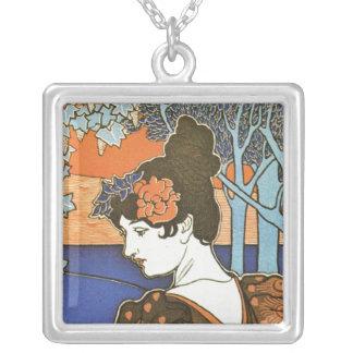 Art nouveau silverpläterat halsband