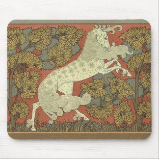 Art nouveau som kråma sig hästen musmatta