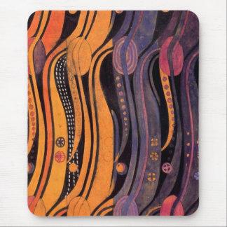 Art nouveau Stylized tulpan - Mousepad