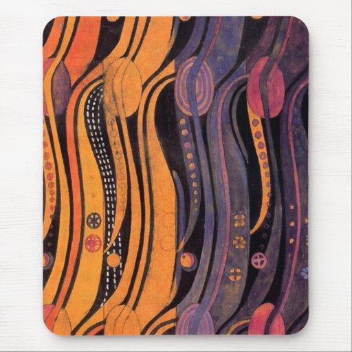 Art nouveau Stylized tulpan - Mousepad Mus Matta