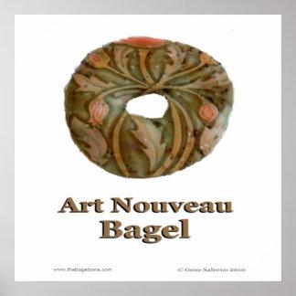 Art nouveaubagel poster