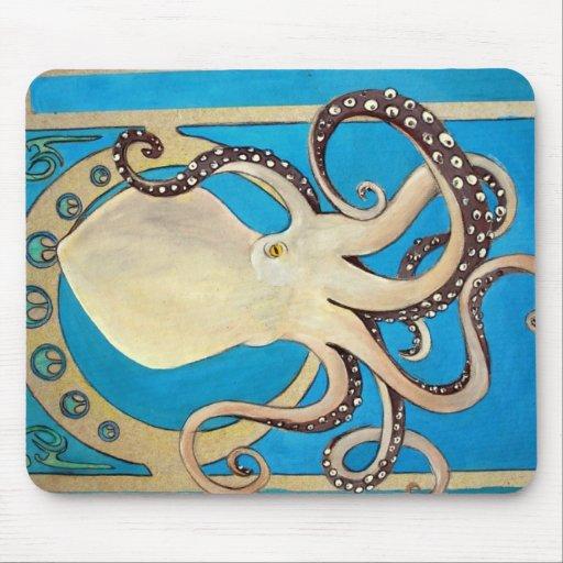 Art nouveaubläckfiskmusen vadderar musmattor