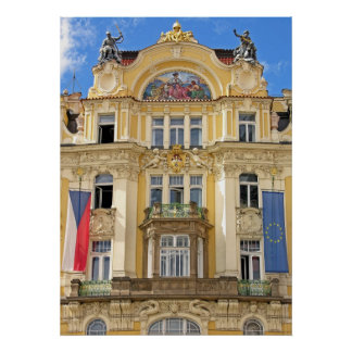 Art nouveaubyggnad, Prague Poster
