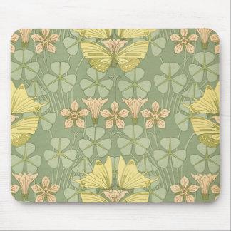 Art nouveaufjärilsträdgård - Mousepad Mus Mattor