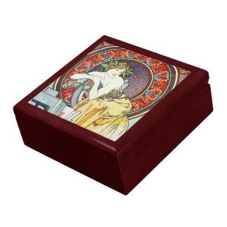 Art nouveaugudinna presentskrin