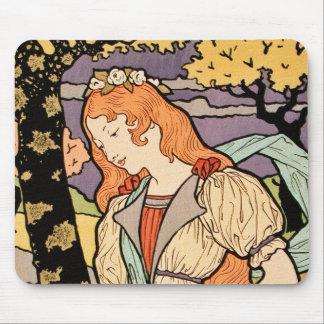 Art nouveauillustration: Irises+Ro vid Grasset Mus Mattor