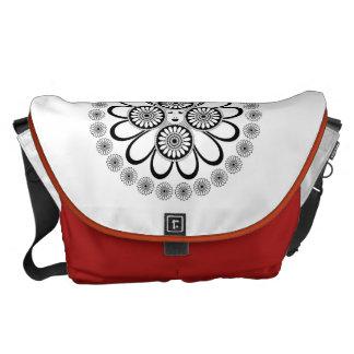 Art nouveaukvinna kurir väska