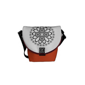 Art nouveaukvinna messenger bag