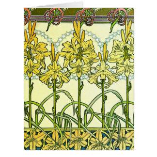 Art nouveauliljar 1901 jumbo kort