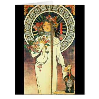 Art nouveauLiqueurannons 1898 Jumbo Kort