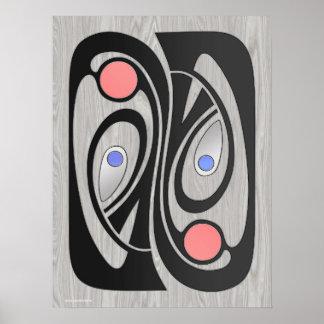 Art nouveauMitt--Århundrade MashUp 18x24 Poster