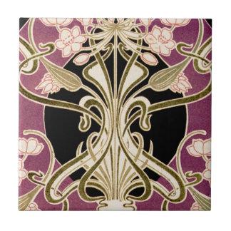 Art nouveaumönster #2 liten kakelplatta