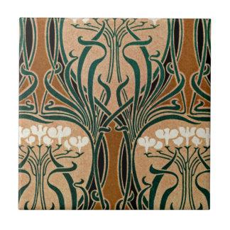 Art nouveaumönster #9 liten kakelplatta