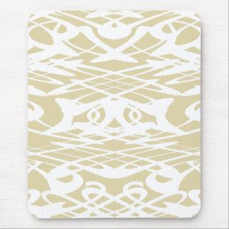 Art nouveaumönster i beige och White. Mus Mattor