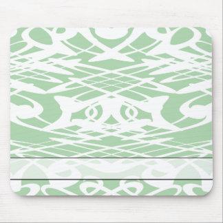 Art nouveaumönster i ljust - grönt och White. Musmatta
