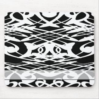 Art nouveaumönster i svart och White. Musmattor