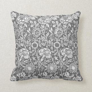 Art nouveaunejlikadamast, grått/grå färg prydnadskuddar