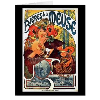 Art nouveauölannons 1897 jumbo kort