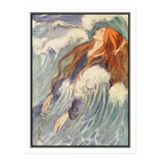 Art nouveauPrincess vid Florence Harrison Vykort