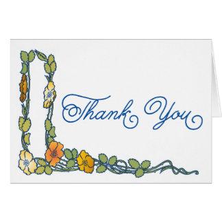 Art nouveauvallmon blommar tackkortet OBS kort