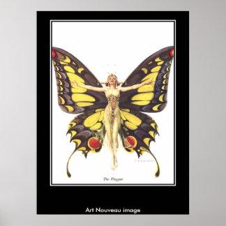 Art nouveauvintage affisch poster