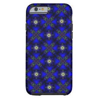 Artdeco abstraktblommor och stjärnor tough iPhone 6 fodral