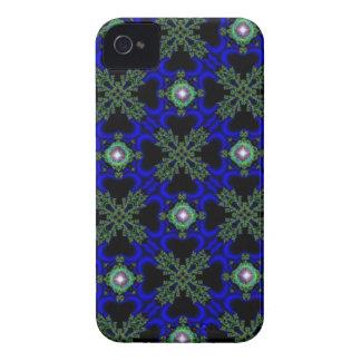 artdeco i retro blått och svart för Case-Mate iPhone 4 case