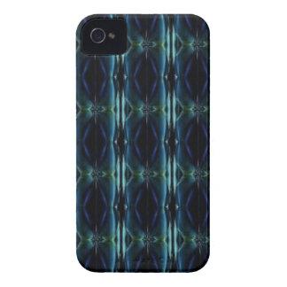 artdeco i retro lookgrönt och blått iPhone 4 case